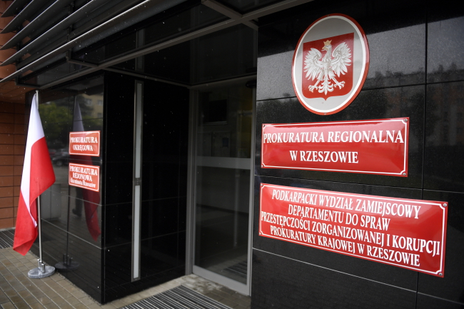 The prosecutor's office in Rzeszów, southeastern Poland, where Zbigniew M. was to be taken for questioning. Photo: PAP/Darek Delmanowicz.
