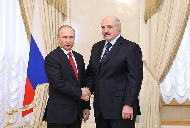У. Пуцін і А. Лукашэнка