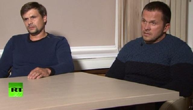 Александр Петров (справа) и Руслан Боширов (слева), настоящее имя которого - Анатолий Чепига