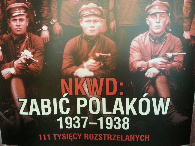 """Плакат, представляющий обложку бюллетеня Института национальной памяти, посвященного """"польской операции"""" НКВД 1937-38 годов."""