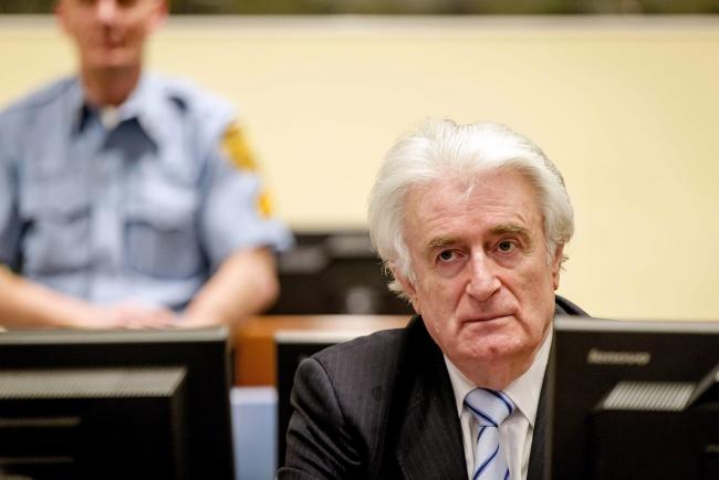 Радован Караджич під час винесення вироку Міжнародного суду щодо колишньої Югославії