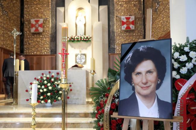Funeral ceremonies for Irena Szewińska in Warsaw. Photo:  PAP/Tomasz Gzell