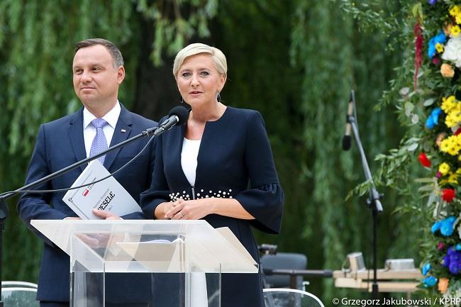 Andrzej Duda and Agata Kornhauser-Duda. Photo: Grzegorz Jakubowski/KPRP