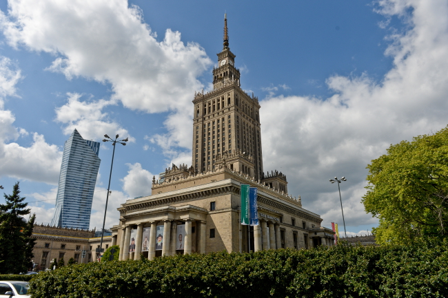 The Palace of Culture and Science. Photo: PAP/Marcin Obara