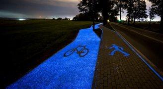 У Польщі проклали першу в країні люмінесцентну велодоріжку