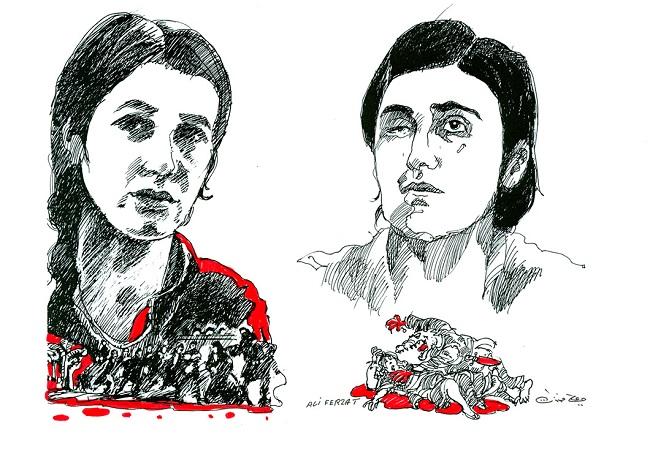Nadia Murad and Lamiya Aji Bashar. Photo: europarl.europa.eu/Ali Ferzat