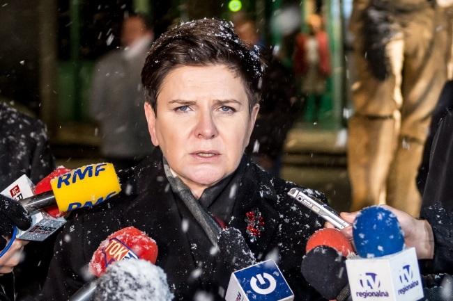 PM Beata Szydło at the Rudna mine. Photo: PAP/Maciej Kulczyński