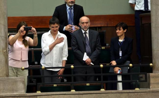 Nadija Sawczenko w Sejmie