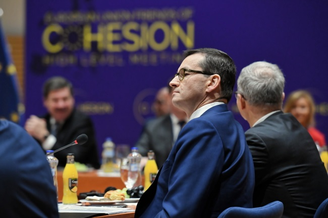 Mateusz Morawiecki attends the meeting in Bratislava. Photo: PAP/Jacek Turczyk
