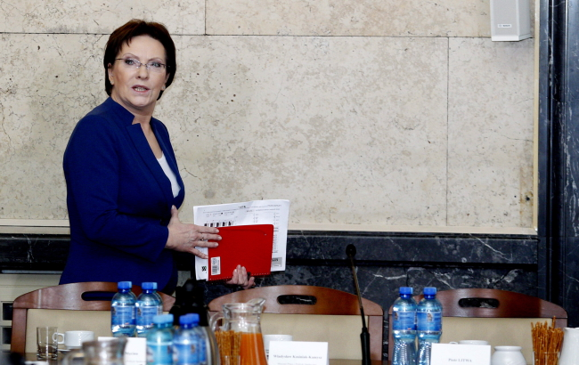 Prime Minister Ewa Kopacz during talks between trade unionists and the government, Katowice. Photo: PAP/Andrzej Grygiel