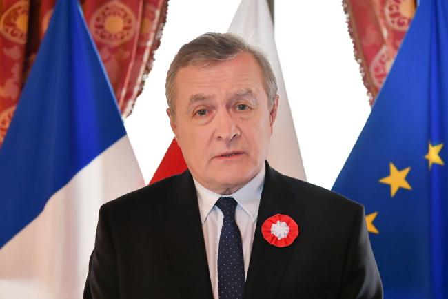 Министр культуры Польши Петр Глиньский на совещании ЕС в Париже по сохранению европейского культурного наследия.