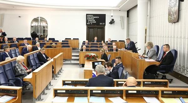 Зал заседаний польского Сената