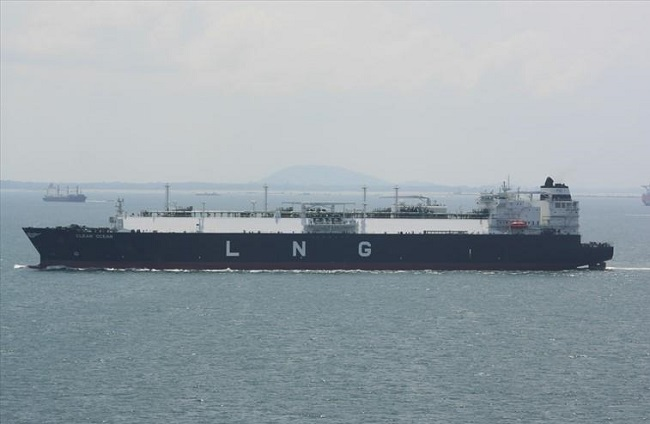 The tankship currently at Poland's Świnoujście LNG Terminal. Photo: marinetraffic.com/smp.