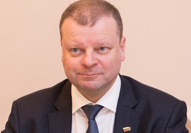 Lithuanian Prime Minister Saulius Skvernelis. Photo: Saeima [CC BY-SA 2.0 (https://creativecommons.org/licenses/by-sa/2.0)], via Wikimedia Commons