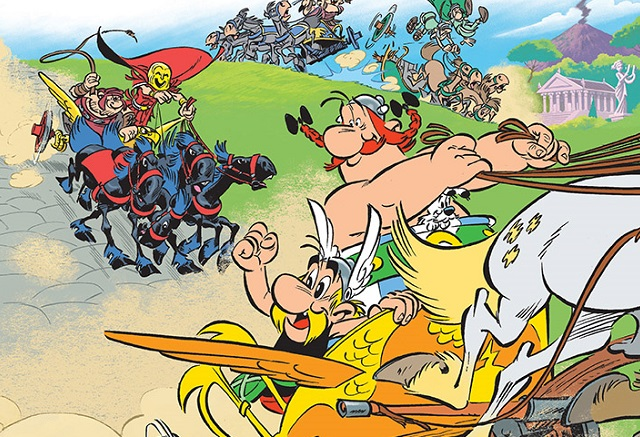 "Comicszene auf dem Bandcover ""Asterix in Italien"", © 2017 Les Éditions Albert René"