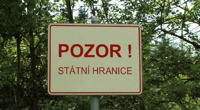 """Напис: """"Увага! Державний кордон"""" чеською мовою"""