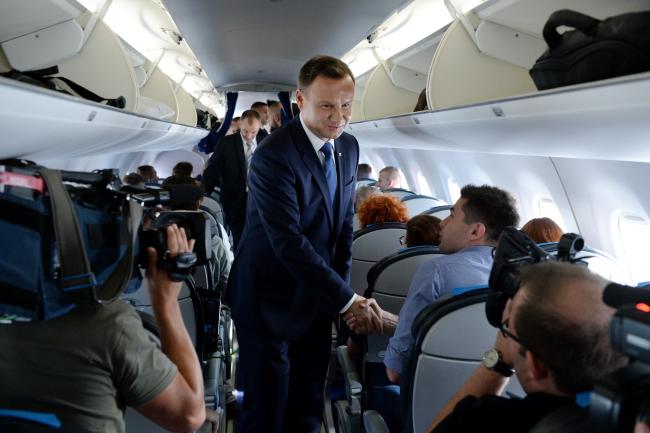 Анджей Дуда на шляху до Києва. 23 серпня 2016 р.