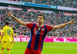 Lewandowski nominated to UEFA's Team of the Year 2014