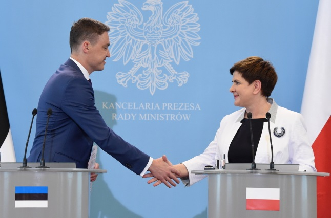 Taavi Roivas and Beata Szydło. Photo: PAP/Radek Pietruszka