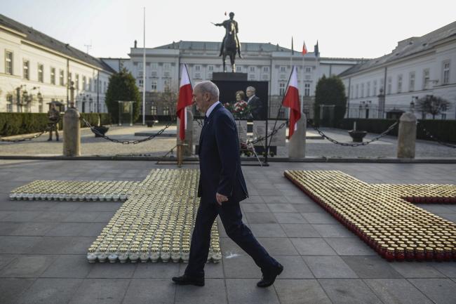 Очільник смоленської підкомісії Міністерства національної оборони Польщі Антоні Мацєревич. Варшава, 10 квітня 2018 року