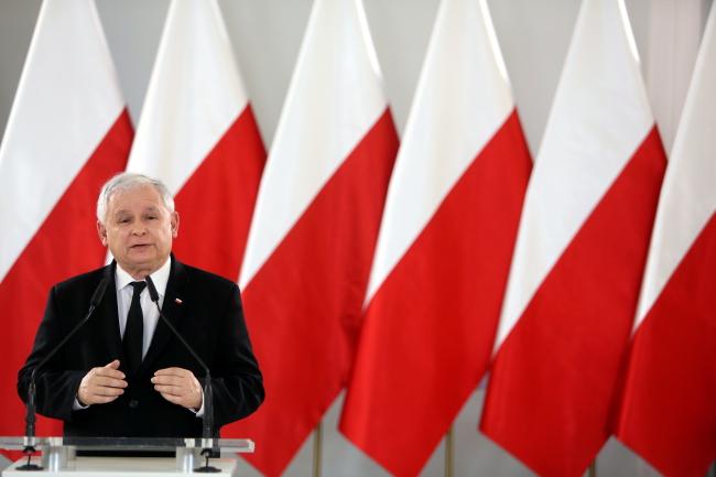 Chairman of the Law and Justice Jarosław Kaczyński. Photo: PAP/Leszek Szymański