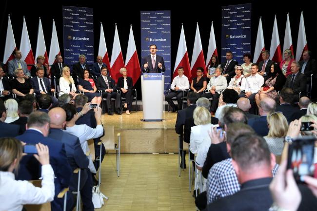 Mateusz Morawiecki. Photo: PAP/Andrzej Grygiel