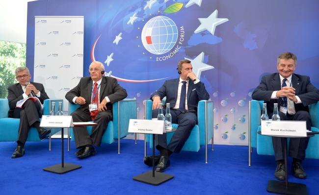 (L-R): Stanisław Karczewski, Janos Latorcai, Andrej Danko, Marek Kuchciński. Photo: PAP/Darek Delmanowicz