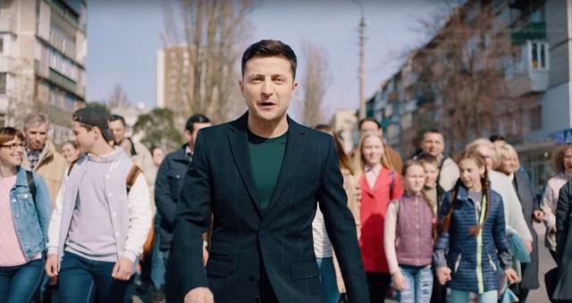 Кандидат на пост президента Украины Володымыр Зеленский
