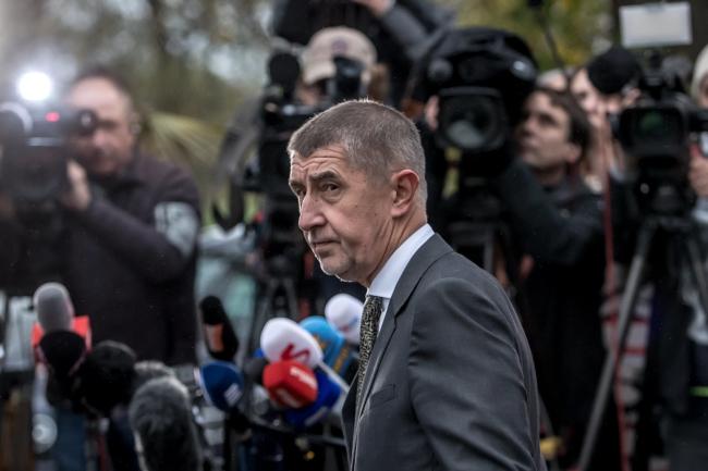 Лідер партії ANO Андрей Бабіш, 23 жовтня 2017 року