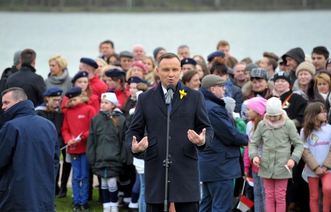 Глава Польщі Анджей Дуда у Валчі, 19 квітня 2017 року