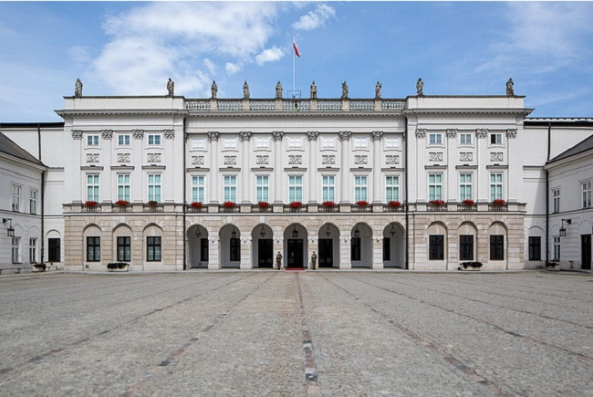 The Presidential palace in Warsaw. Photo: KPRP