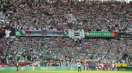 Legia fans. Photo: legia.com