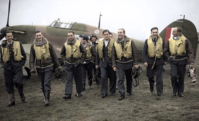 Members of the predominantly Polish 303 Squadron, which fought as part of Britain's Royal Air Force in WWII. Photo: Wikimedia Commons