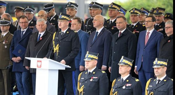 Торжества Дня Пожарного в Варшаве