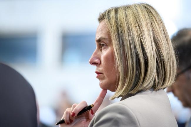 EU Foreign Minister Federica Mogherini. Photo: EPA/FABRICE COFFRINI