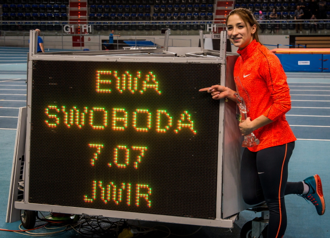 Ewa Swoboda broke the record at an event in Toruń. Photo: PAP/Tytus Żmijewski
