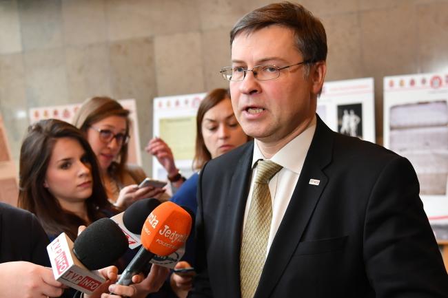 Valdis Dombrovskis. Photo: PAP/Bartłomiej Zborowski