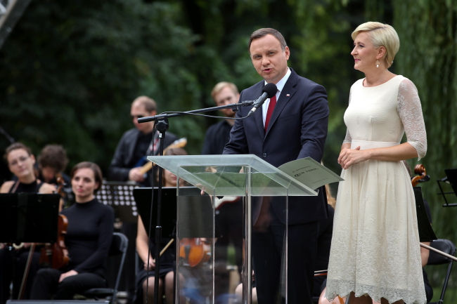 Polish President Andrzej Duda and First Lady Agata Kornhauser-Duda. Photo: PAP/Rafał Guz