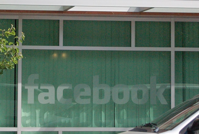 The Facebook logo on the social media giant's headquarters in Palo Alto, California. Photo: Steven Walling/Wikimedia Commons (CC BY 2.0)