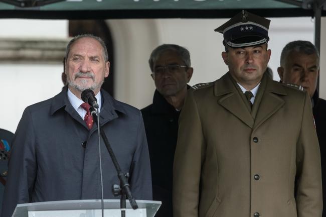 Міністр національної оборони Польщі Антоні Мацєревич. Замосьць, 30 жовтня 2017