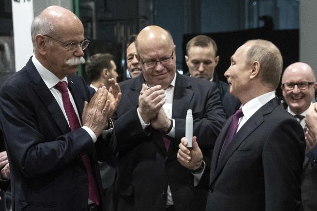 Церемонія відкриття заводу Mercedes-Benz  в Росії