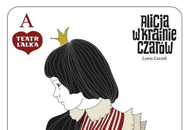 "Афиша спектакля ""Алиса в стране чудес"" в Театре LALKA."