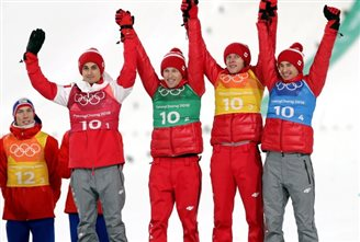 Winter Olympics: Polish ski jumpers take bronze in team competition