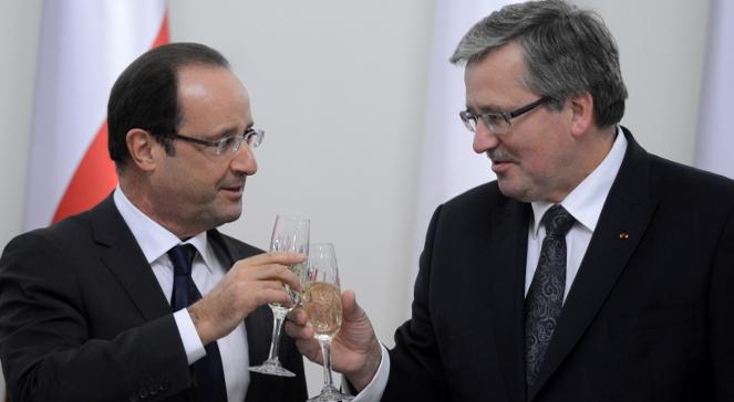 Francois Hollande i Bronisław Komorowski