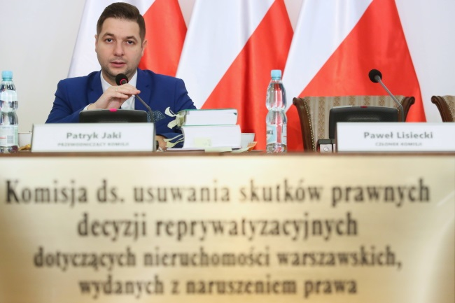 Patryk Jaki, head of a parliamentary commission probing controversial property restitution cases in Poland. Photo: PAP/Leszek Szymański
