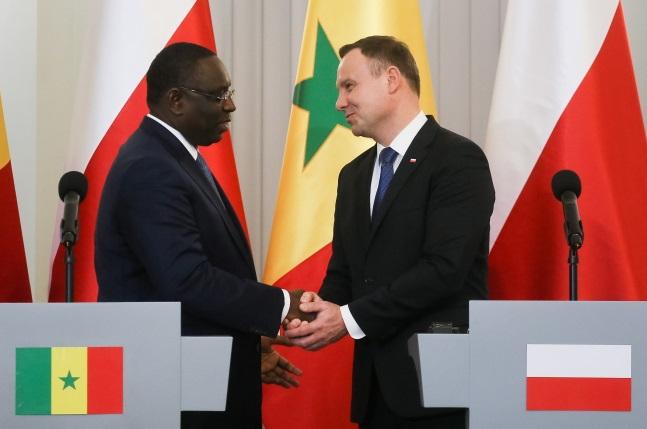 The President of Senegal, Macky Sall (left), with Andrzej Duda (right). Photo: PAP/Paweł Supernak