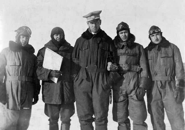 Американские военные во Львове. Фото с выставки «Американцы в Польше. 1919-1947» в «Доме встреч с историей» в Варшаве