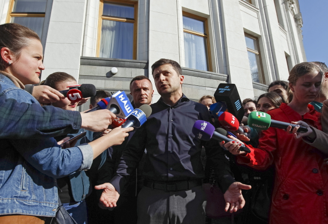 Избранный президент Украины Володымыр Зеленский