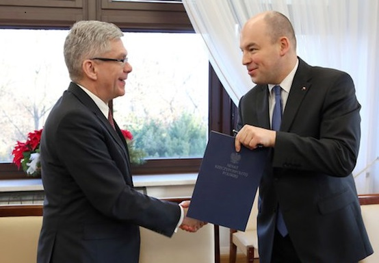 Senate speaker Stanisław Karczewski (L) and Secretary of State Jan Dziedziczak (R). Photo: MSZ