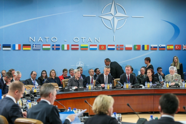 NATO defense ministers at NATO headquarters in Brussels, Belgium. Photo: EPA/STEPHANIE LECOCQ.